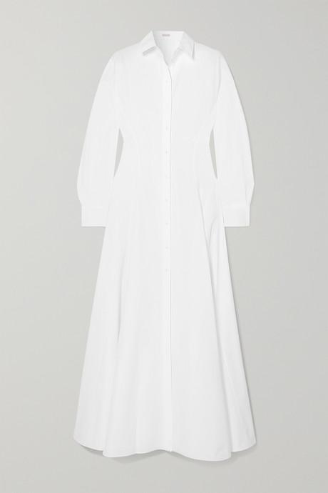 White Cotton-poplin maxi dress | Alaïa sjaoc4