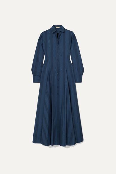 Polka Dot Flocked Wool Maxi Dress by Alaïa