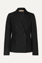 Alaïa Double-breasted wool and mohair-blend blazer