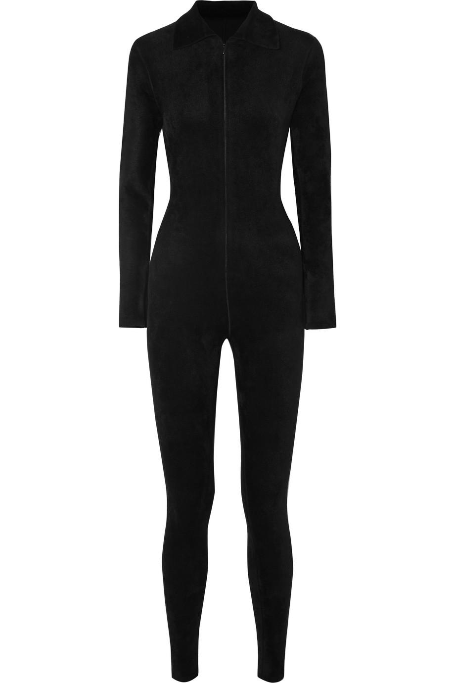 Alaïa Stretch-velour jumpsuit