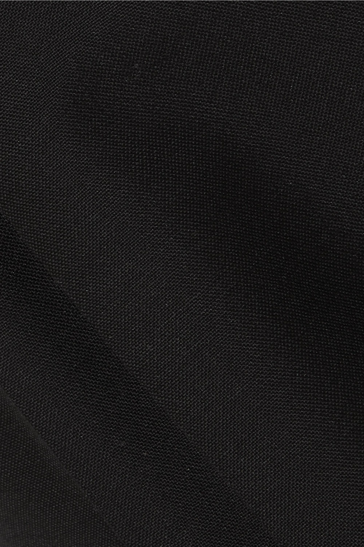 Alaïa Pleated grain de poudre wool and mohair-blend straight-leg pants