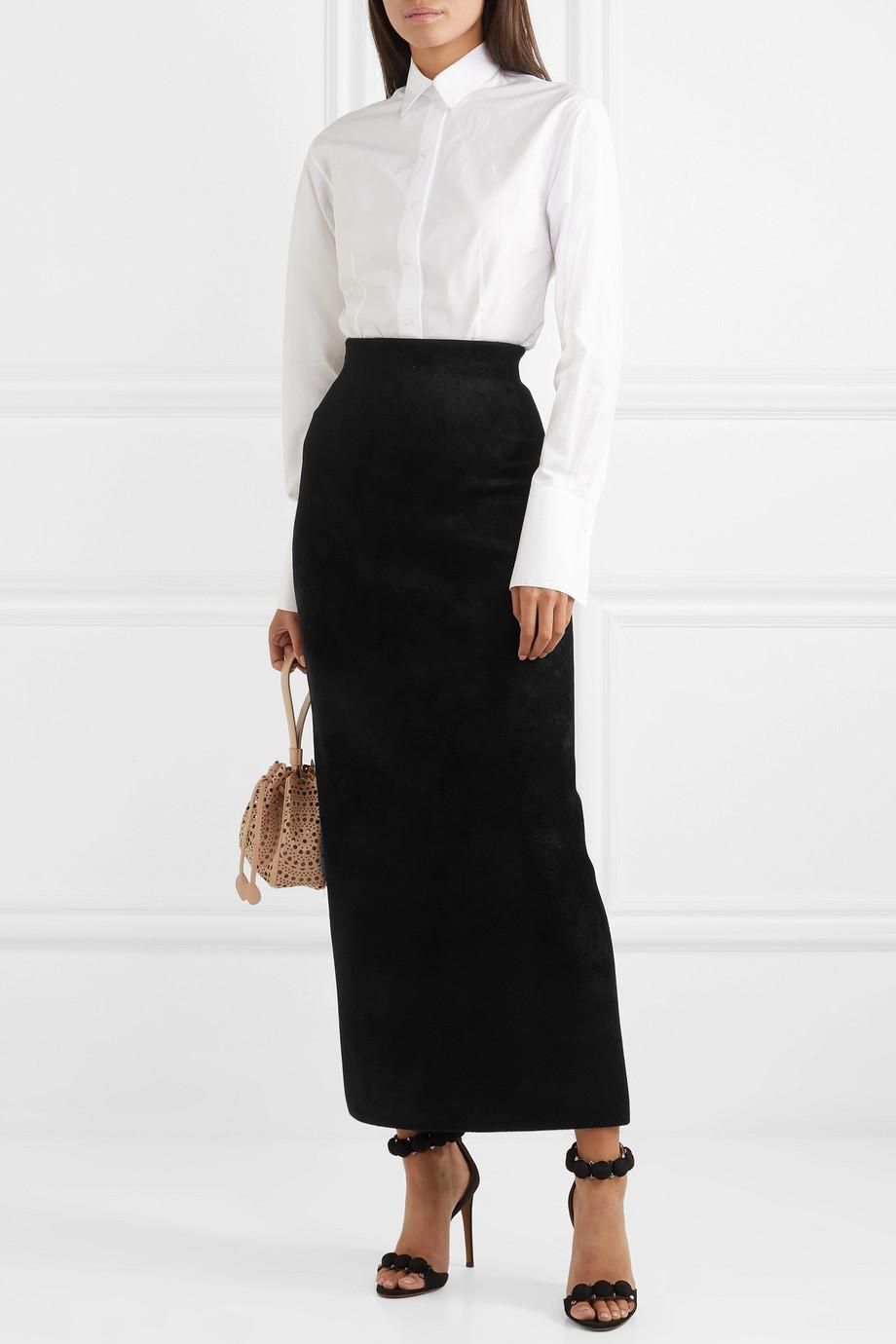 Alaïa Velvet maxi skirt
