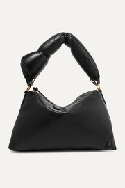 Padded leather tote