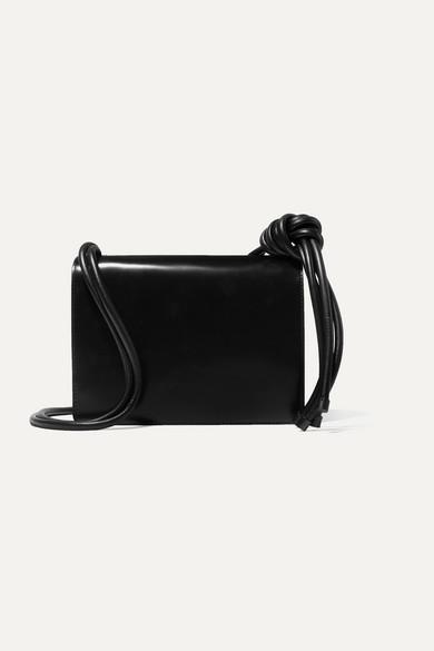 Dries Van Noten Shoulder Knotted large leather shoulder bag