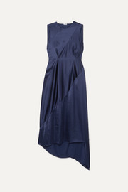 Loewe Tie-detailed open-back satin midi dress
