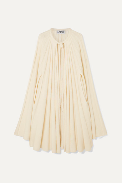 Loewe Jackets Pleated cashmere cape