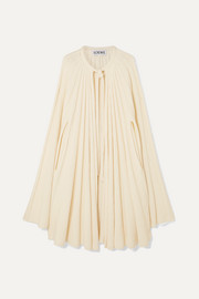 Loewe Pleated cashmere cape