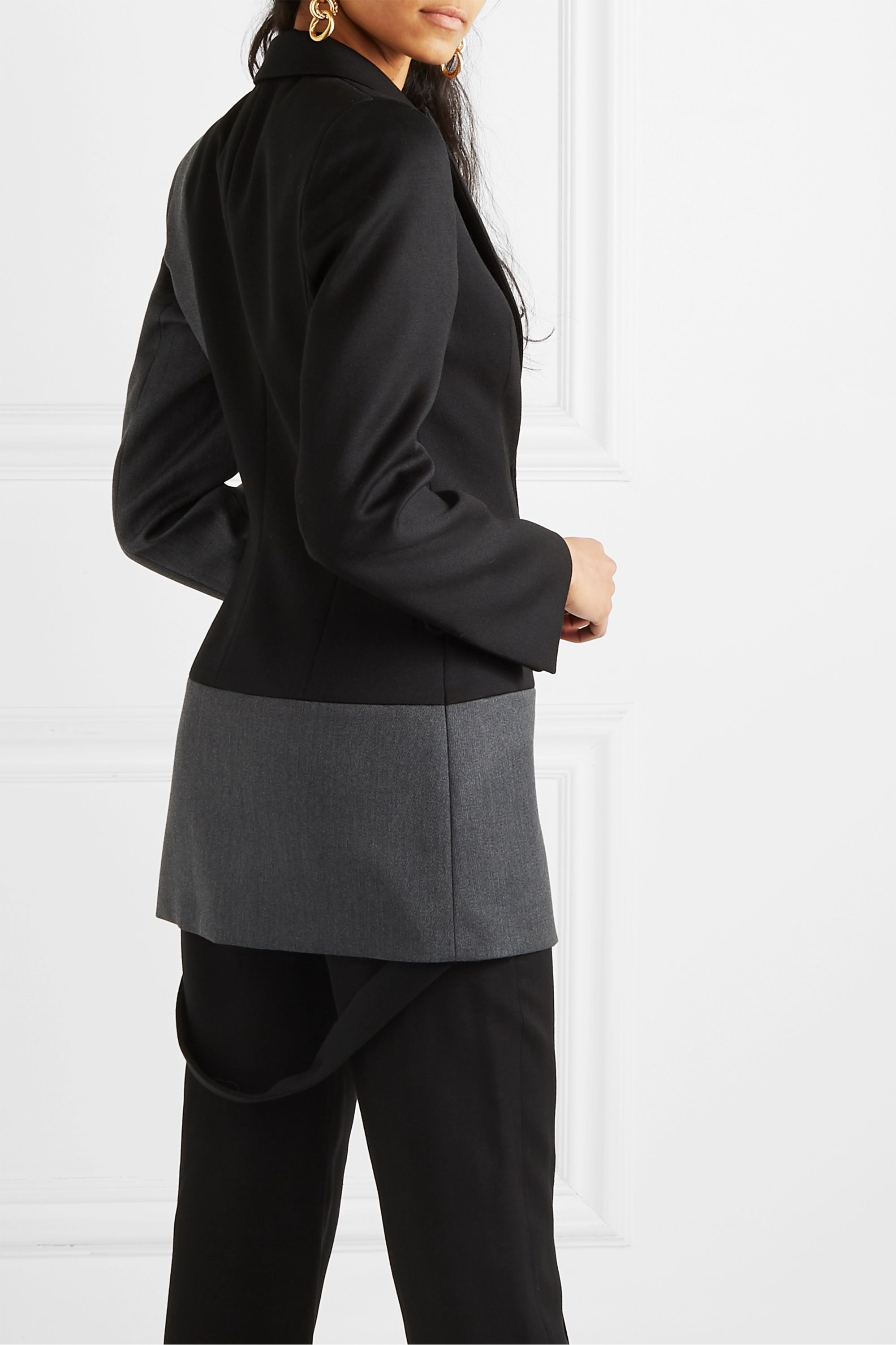 Loewe Two-tone paneled wool-twill blazer