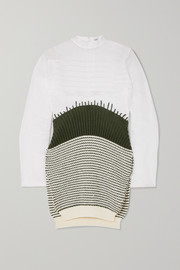 Loewe Cotton-organza and striped wool sweater