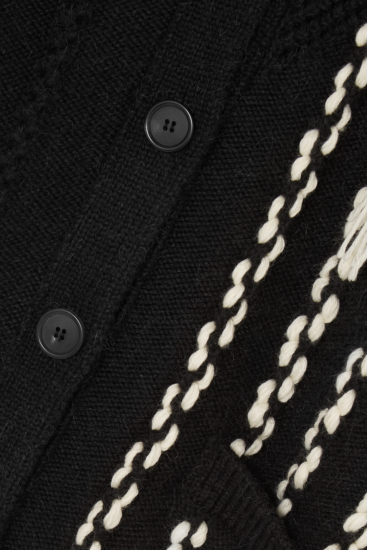 Loewe Fringed wool-blend cardigan