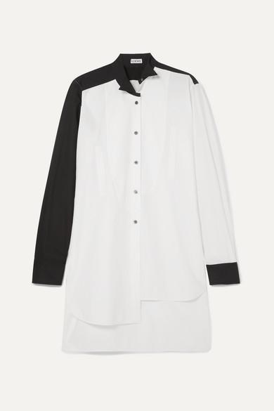 Asymmetric Two Tone Cotton Poplin Shirt by Loewe