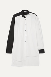 Loewe Asymmetric two-tone cotton-poplin shirt