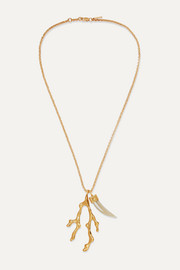 Chloé Bonnie gold-tone horn necklace
