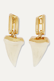 Chloé Blake gold-tone and resin earrings