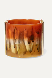 Bobby gold-tone and resin cuff