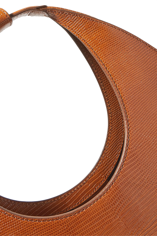 STAUD Moon lizard-effect leather tote
