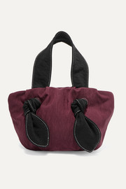 Ronnie knotted satin-twill tote