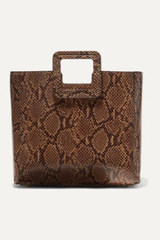 Shirley snake-effect leather tote