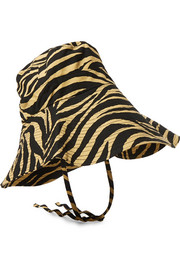 Tiger-print cotton-canvas bucket hat