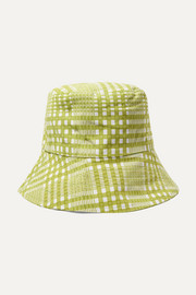 Checked cotton-canvas bucket hat