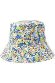 Floral-print cotton-canvas bucket hat