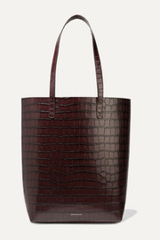 Everyday croc-effect leather tote