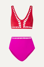 OYE Swimwear Ela cutout two-tone bikini
