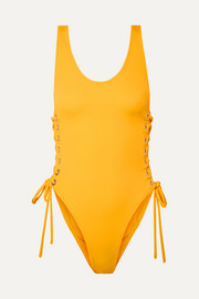Zissou lace-up swimsuit
