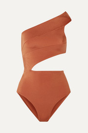 OYE Swimwear Veronique cutout one-shoulder swimsuit