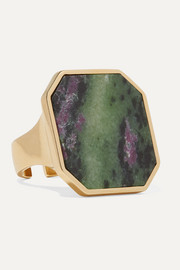 Isabel Marant Golden Mother gold-tone rhodonite ring