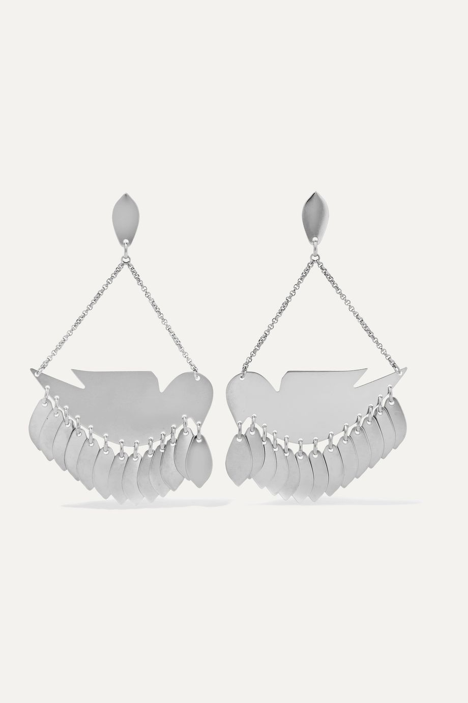 Isabel Marant Birdy silver-tone earrings