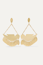 Isabel Marant Birdy gold-tone earrings