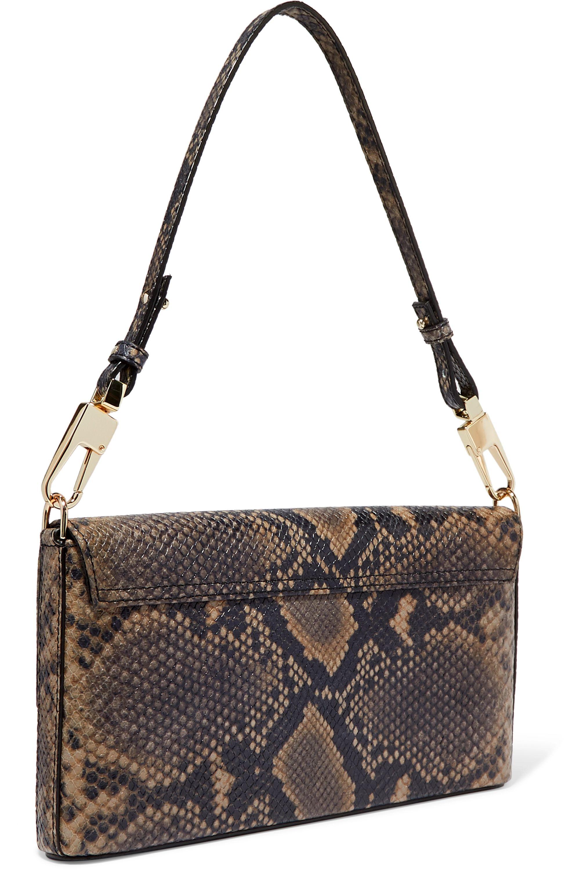 Chylak Flap snake-effect leather shoulder bag