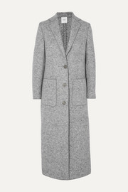 Mélange wool coat