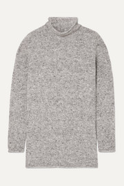 Mélange wool-blend sweater
