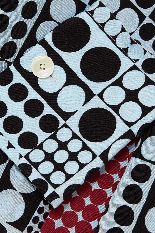 ARIAS Pussy-bow print silk blouse