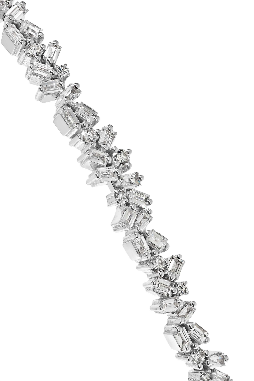 Suzanne Kalan 18-karat white gold diamond headband