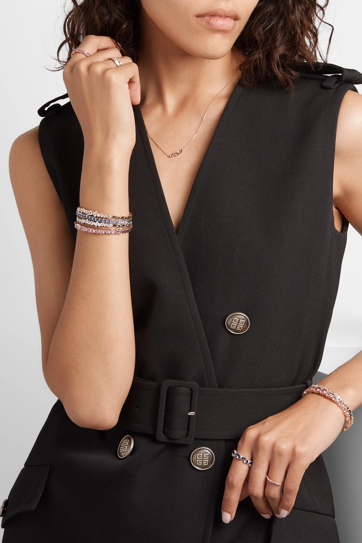 Suzanne Kalan Bracelet en or blanc 18 carats, saphirs et diamants
