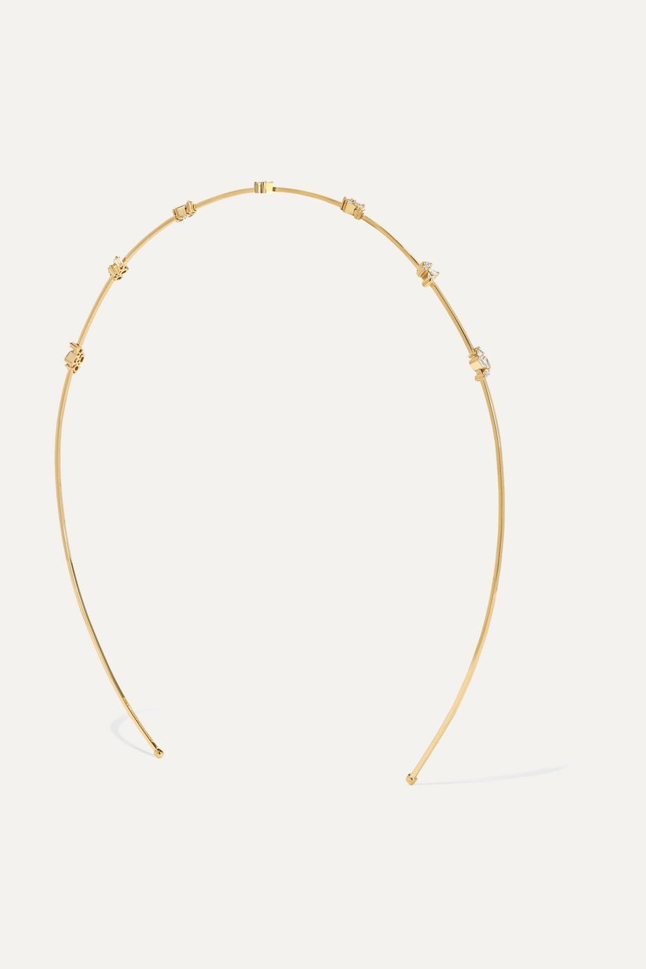 Suzanne Kalan 18-karat gold diamond headband