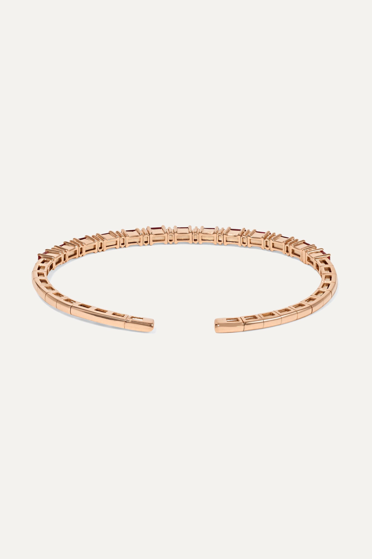 Suzanne Kalan Bracelet en or rose 18 carats, rubis et diamants