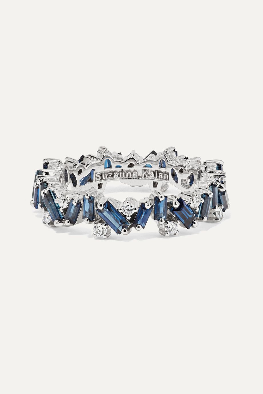 Suzanne Kalan 18-karat white gold, sapphire and diamond ring