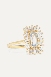 18-karat gold, sapphire and diamond ring
