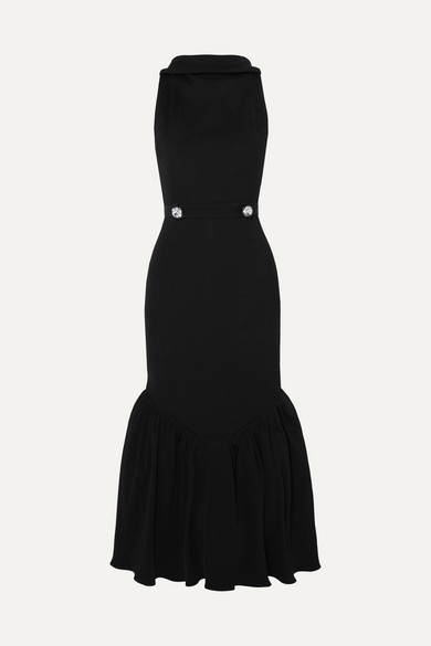 tiered-crystal-embellished-ribbed-knit-midi-dress by christopher-kane