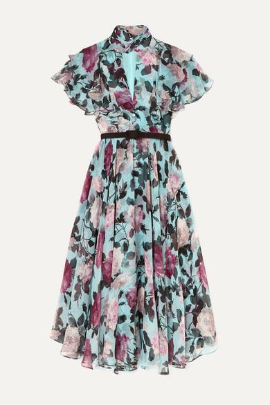 933d7ec603 Guidita ruffled floral-print silk-chiffon midi dress