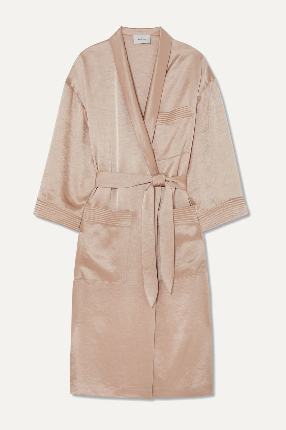 Nanushka Hammered-satin robe
