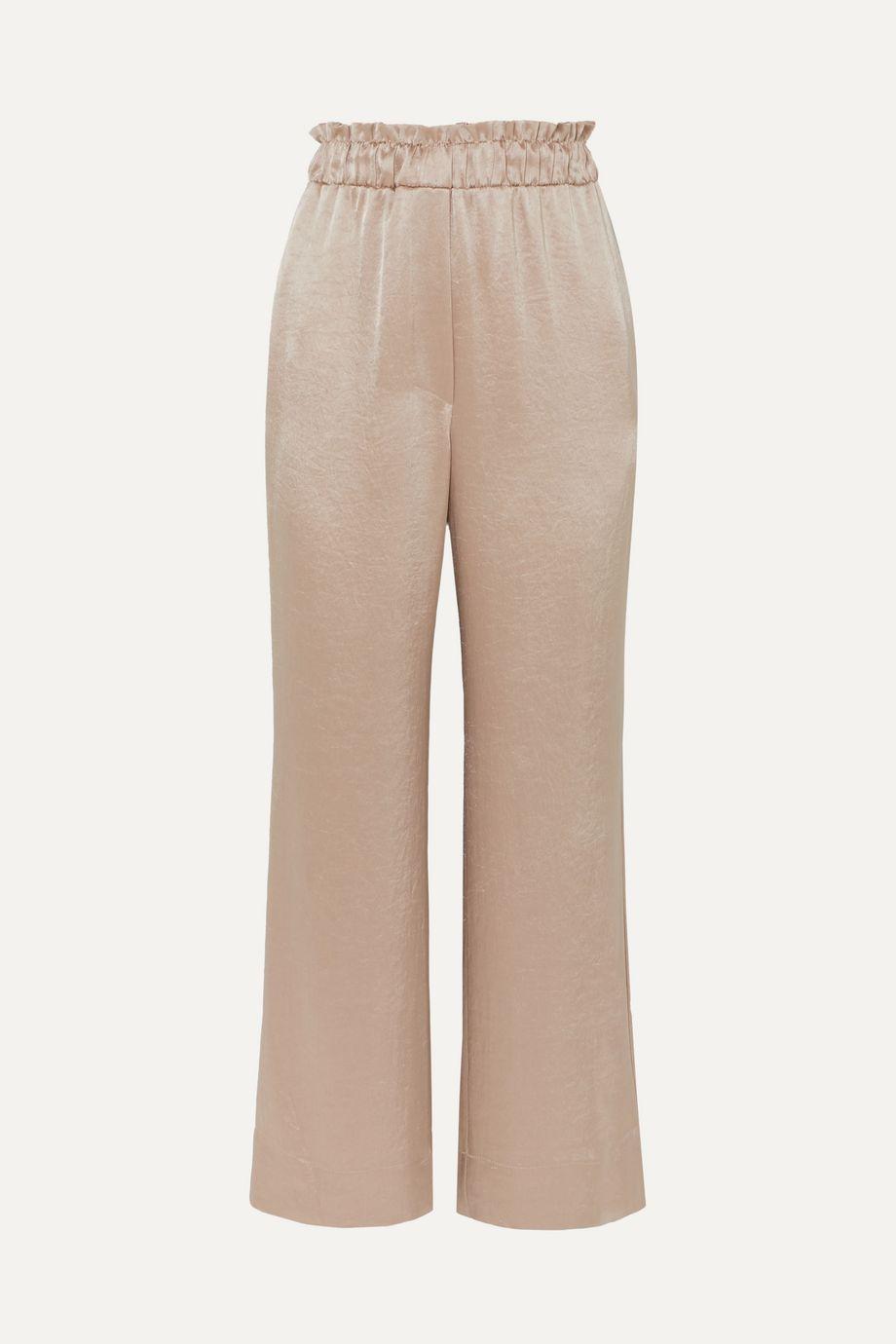 Nanushka Ming hammered-satin wide-leg pants