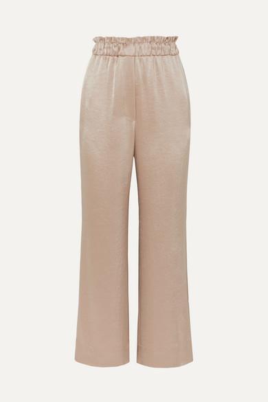 Nanushka Pants Ming hammered-satin wide-leg pants