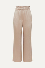 Nanushka Ming hammered-satin wide-leg pants