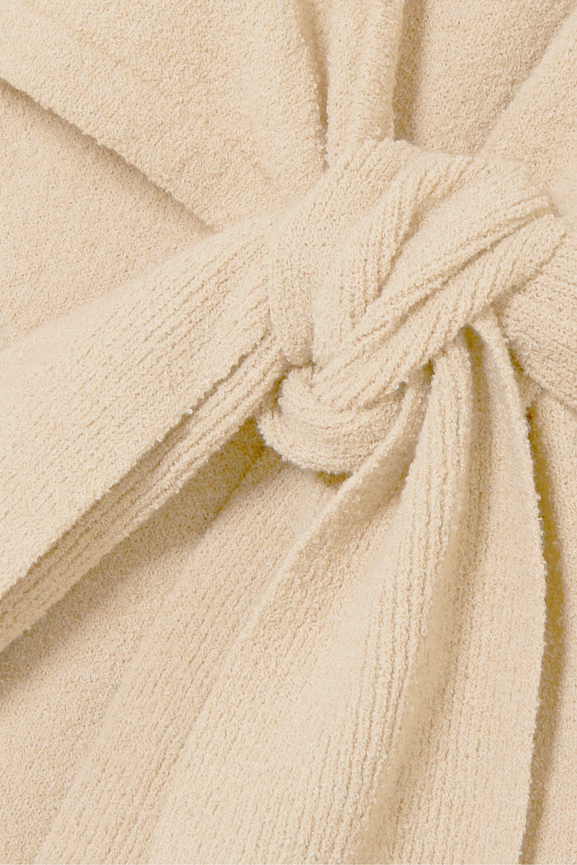 Nanushka Annika stretch cotton-blend terry wrap dress