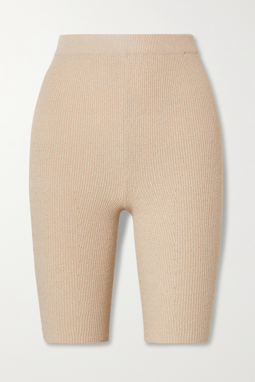 Nanushka Tilo ribbed cotton-blend terry shorts